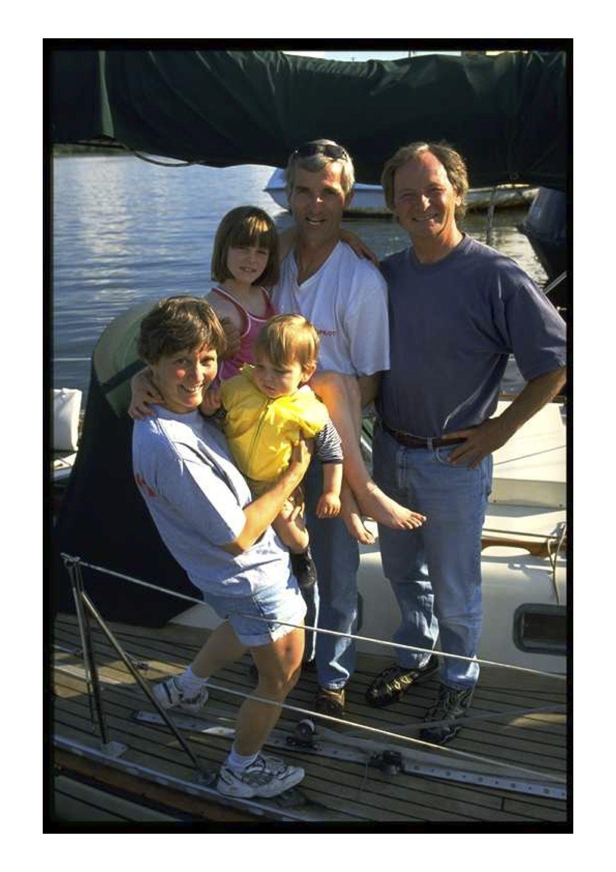 Barbara, Kathie, John, Simon+Peter Foerthmann in Arnis 2001