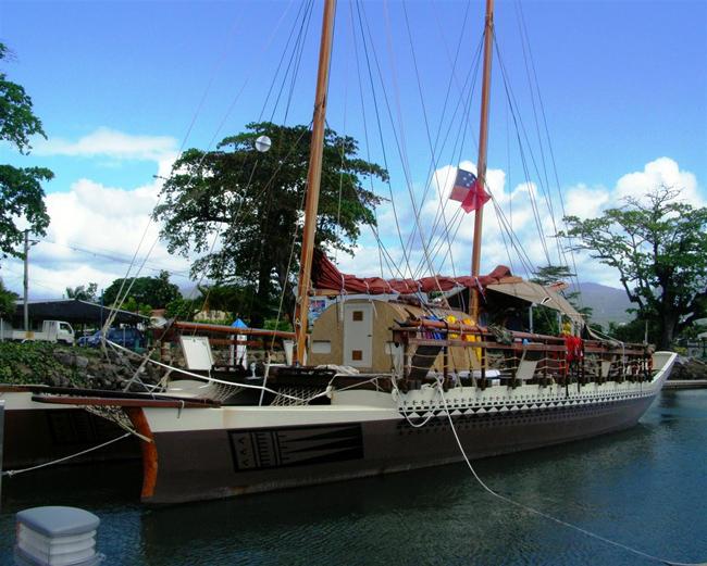 Polynesische catamaran