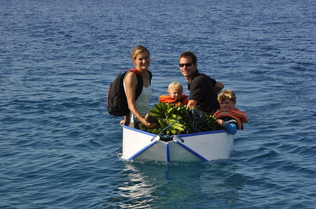 Banana Boot, faltbar aber nur für kleine Motoren geeignet
